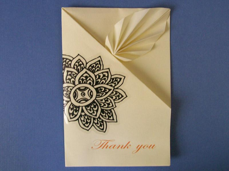 VIEW IN GALLERY Origami Thank You Card