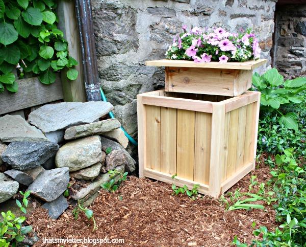 Hose Hiding Outdoor Planter