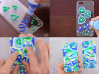 puffy paint textured phone case 200x150 DIY Phone Cases Your Friends Will Think You Bought!