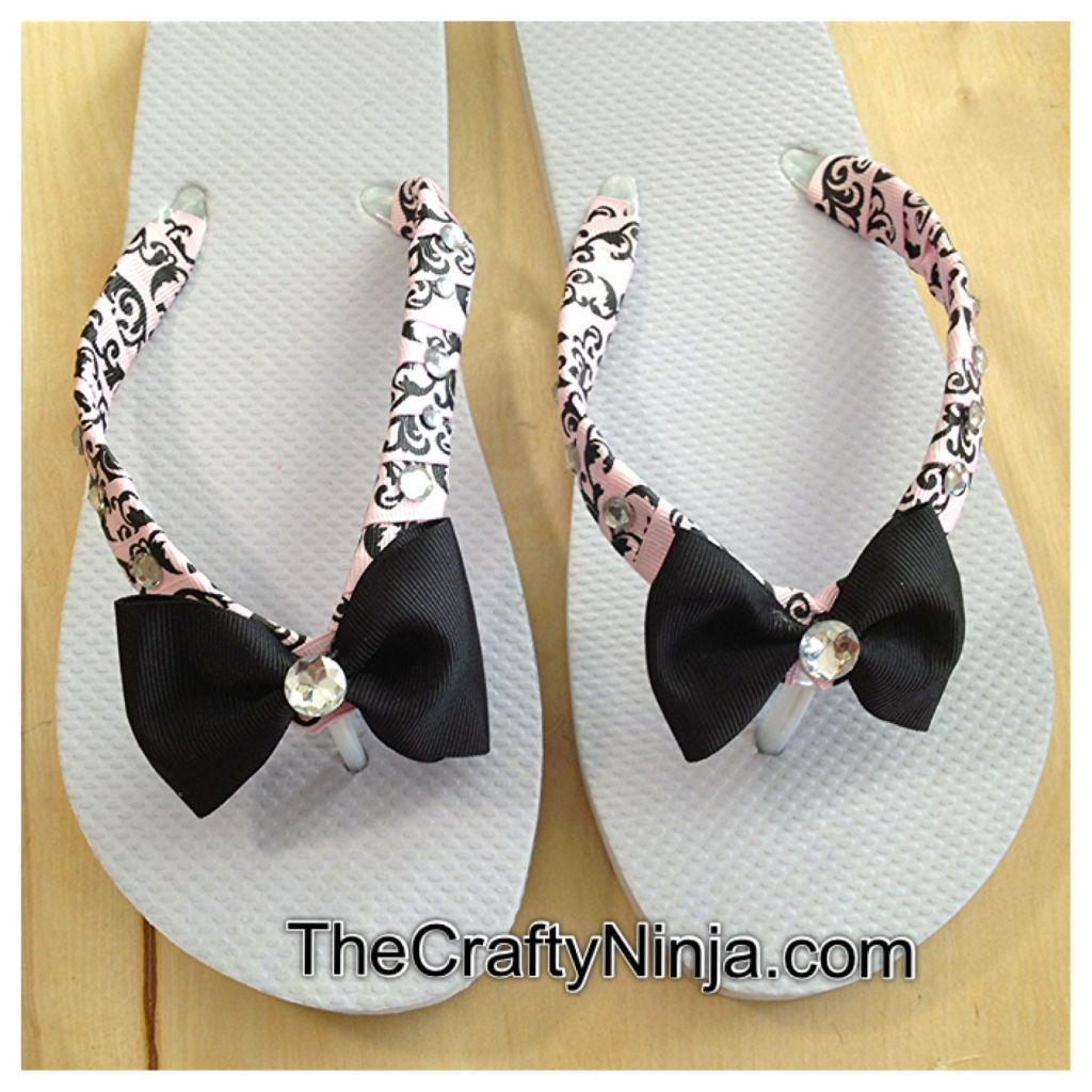 ribbon-and-bow-flip-flops