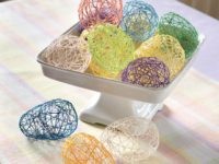 string eggs 200x150 9 Clever Easter Craft Ideas