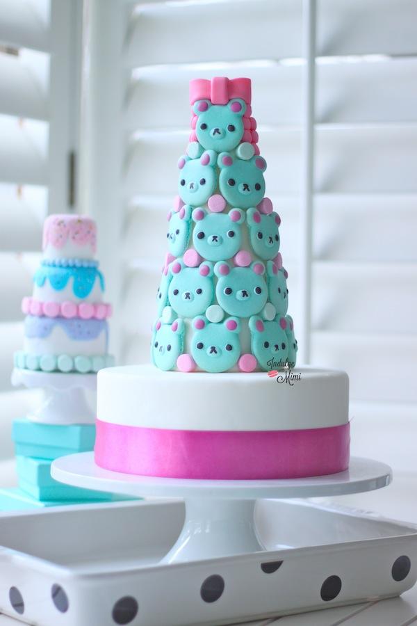Tiffany blue Rikuma bear macaron