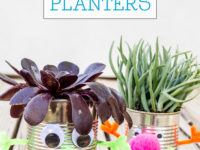 tin can planters 200x150 Youll Love These Incredible Upcycled Art Projects for Kids!