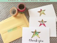 washi tape card 200x150 9 Ideas for Easy Homemade Thank You Cards
