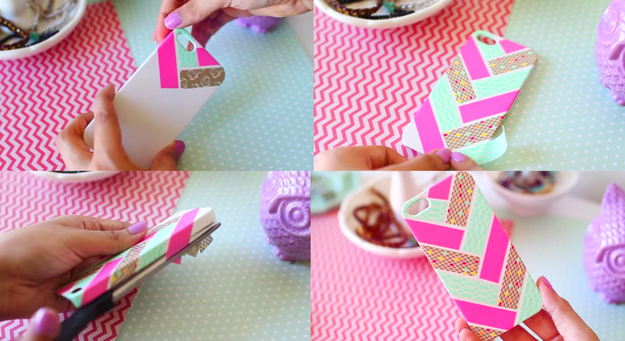 Washi tape phone case