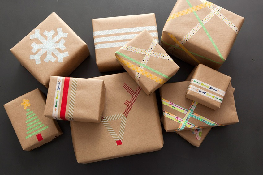 Washi tape wrapping paper