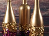 wine bottles 200x150 11 Easy DIY Projects to Help You Celebrate Mardi Gras