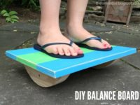 wood balance board 200x150 12 DIY Wooden Toys You Can Make for Your Kids