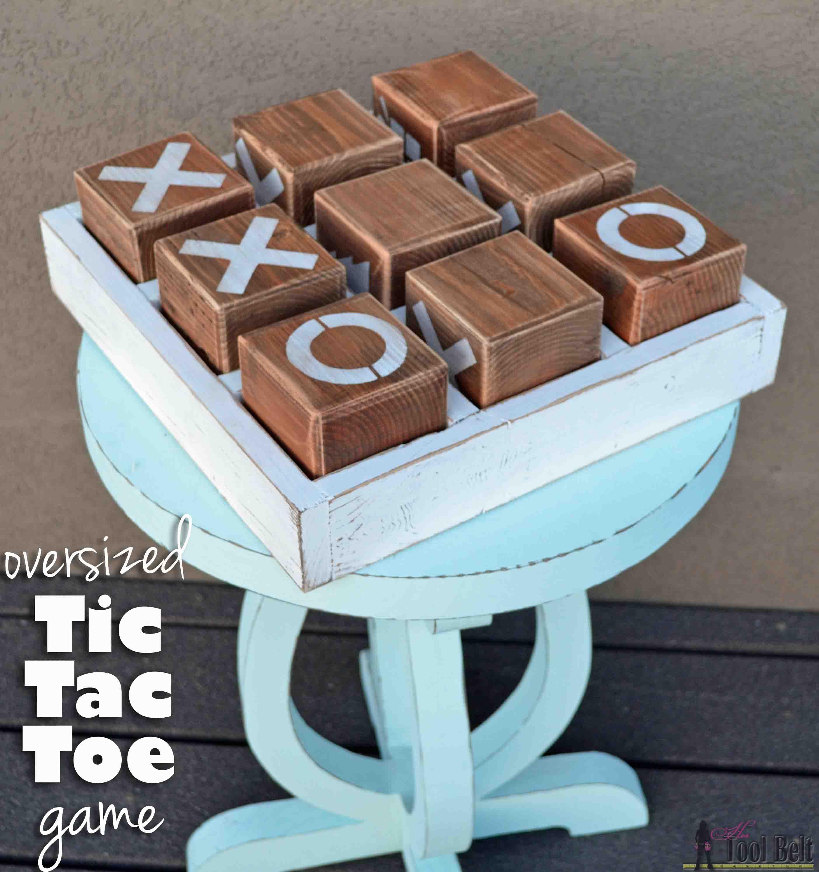 Wood tic tac toe