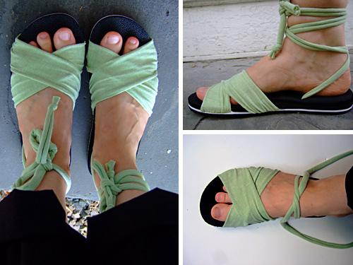Wrapped flip flops