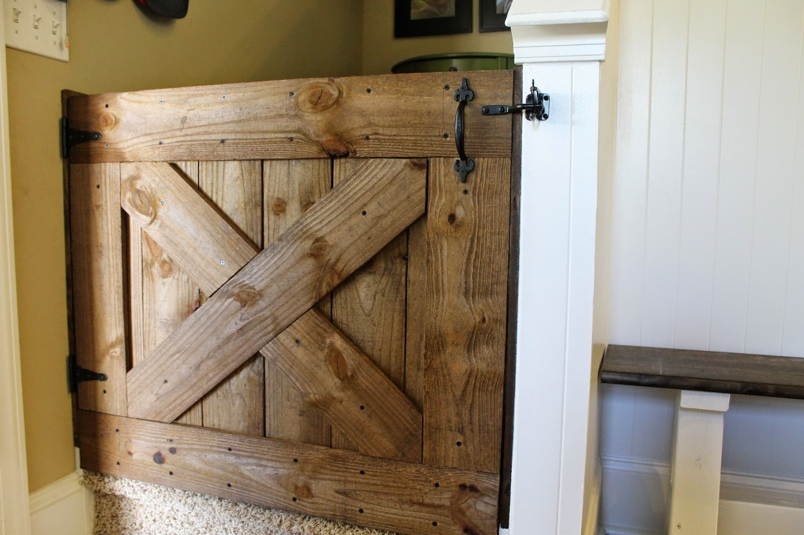 Barn door kitchen gate