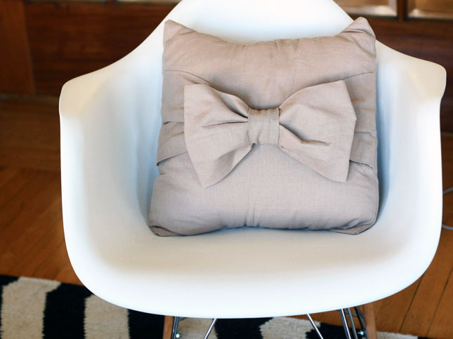 Big bow pillow case