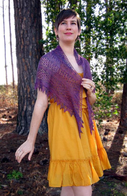Blackerry Mist shawl