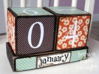 Calendar Blocks 200x150 Need A Desktop Calendar? Check Out These Fab DIY Ideas!