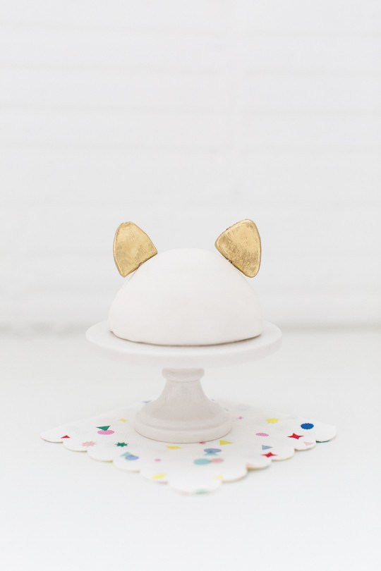 Cat ear cake topper