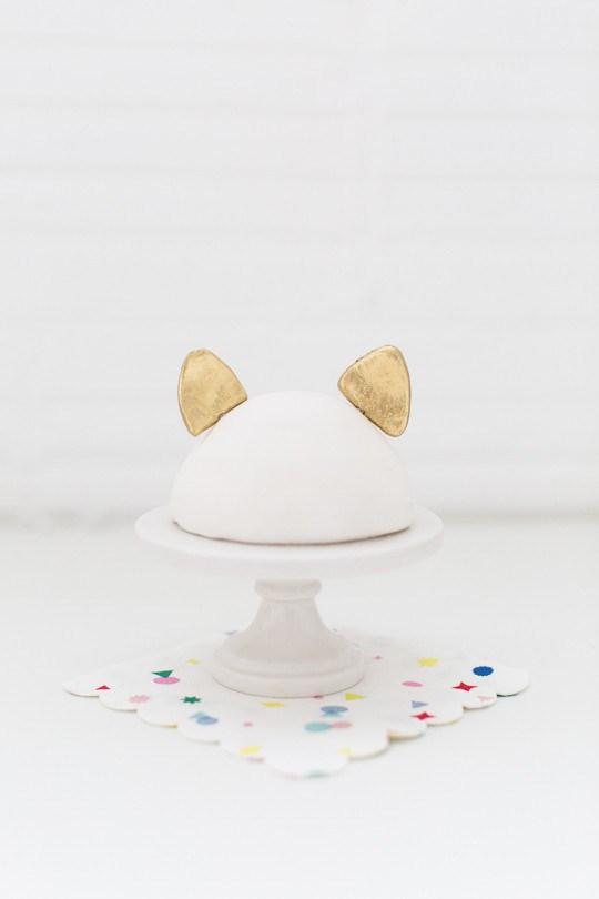 Cat ear cake topper