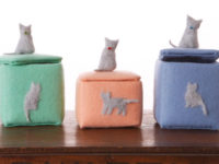 Cat hair trinket box 200x150 DIY Projects Made With Cat Fur