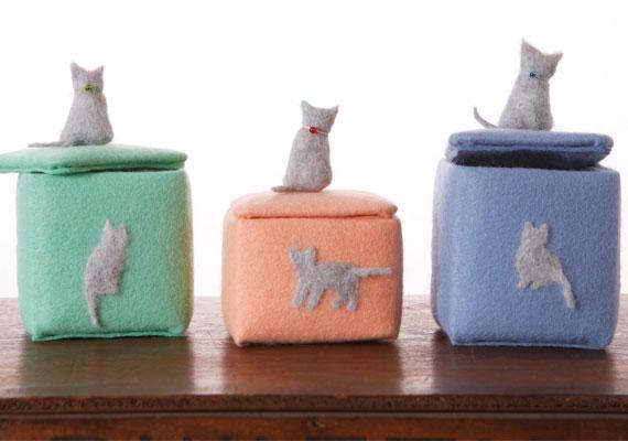 Cat hair trinket box