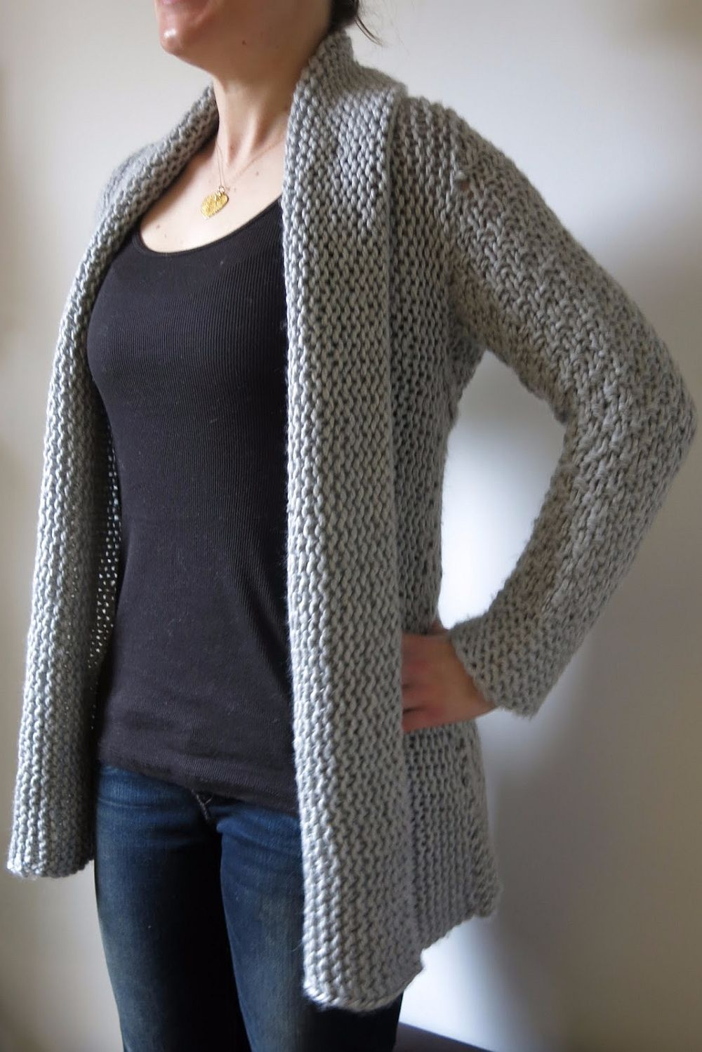 Courie In Cozy Winter Cardigan