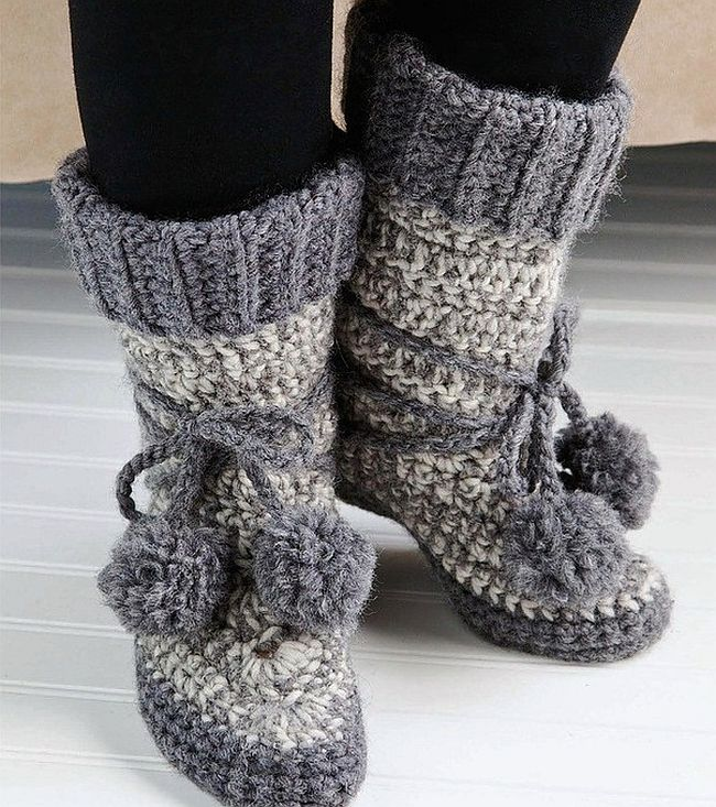 Cozy slipper boots