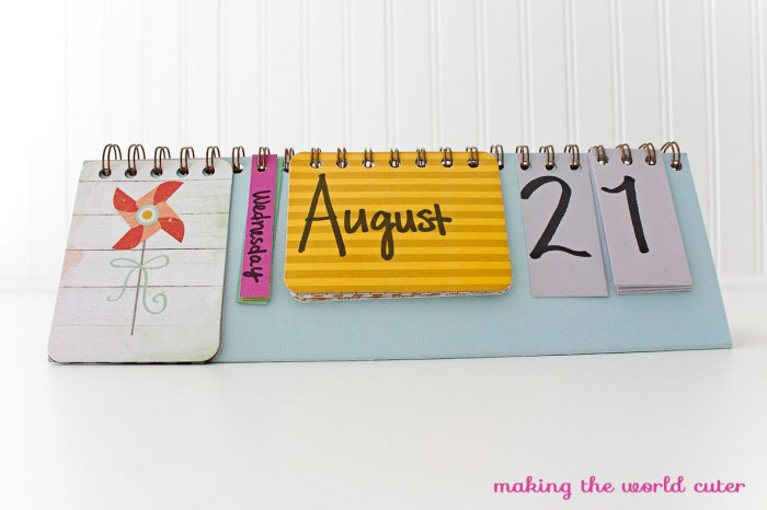 Creative Handmade Calendar Ideas : Need a desktop calendar check out these fab diy ideas