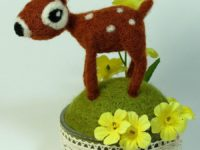 Cute needle felted fawn 200x150 Adorable Baby Shower Gifts Only Needle Felters Can Make