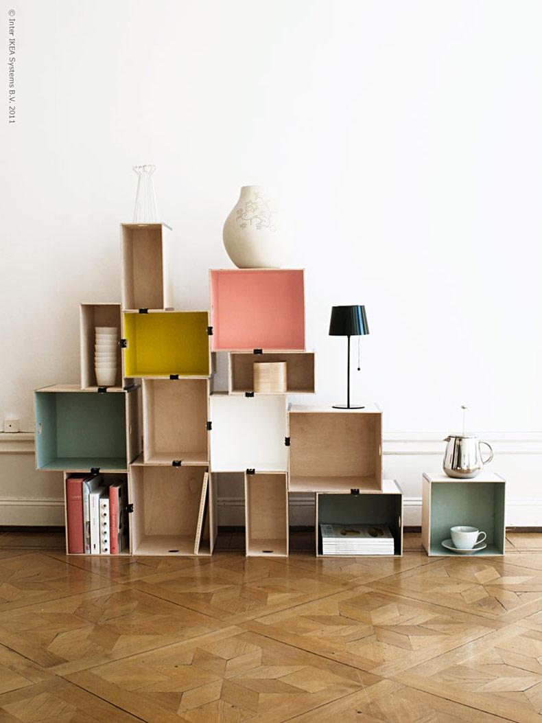 DIY Colourful Shelves
