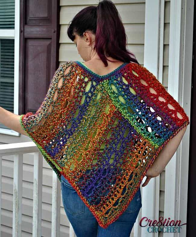 Exelent Crocheted Poncho Pattern Image - Decke Stricken Muster ...
