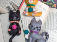 DIY felted kitten stuffies 200x150 Adorable Baby Shower Gifts Only Needle Felters Can Make