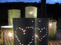 DIY tin can lanterns 200x150 Thoughtful DIY Gift Ideas for Your Tin Anniversary