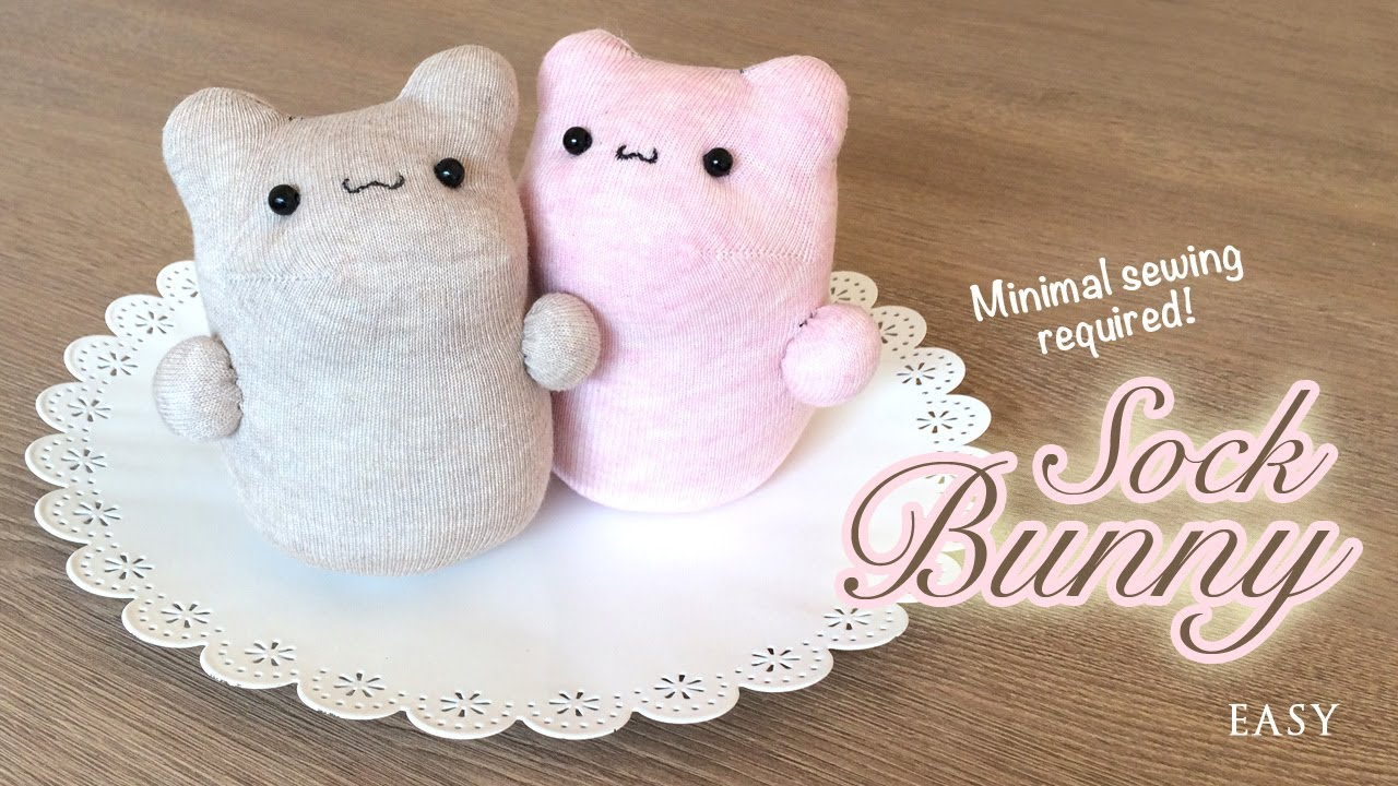 Easy sock bunnies
