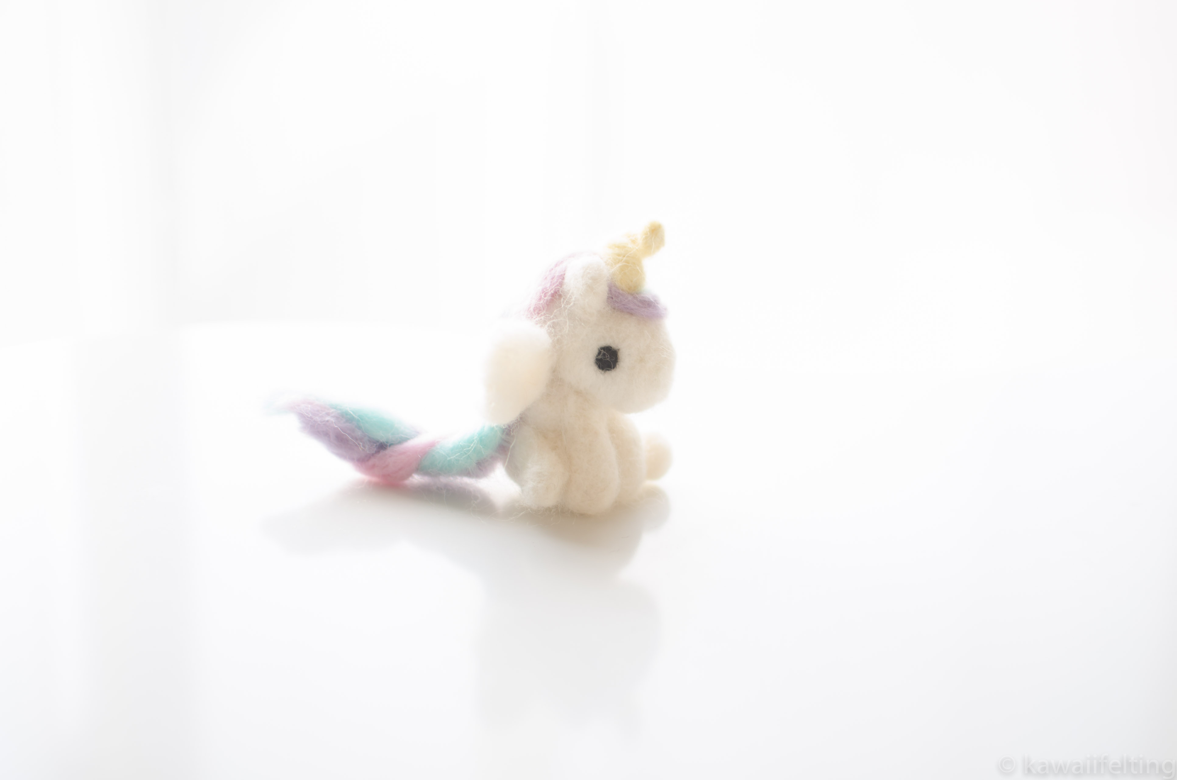 Felted Kawaii unicorn