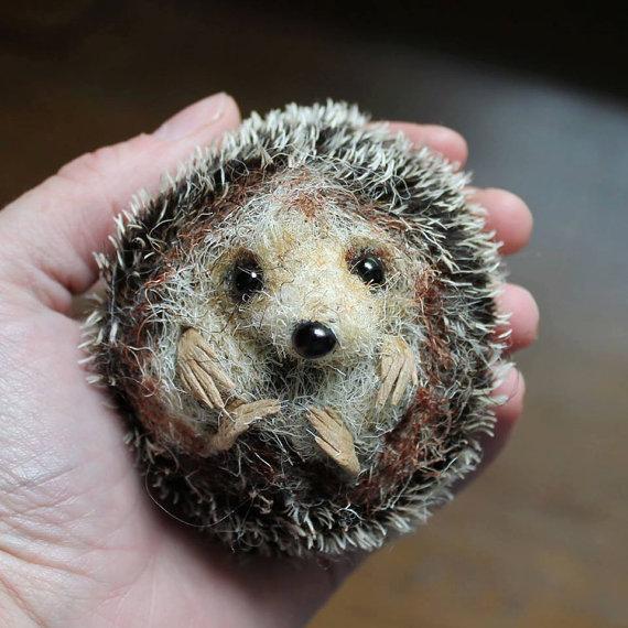 Felted hedgehog