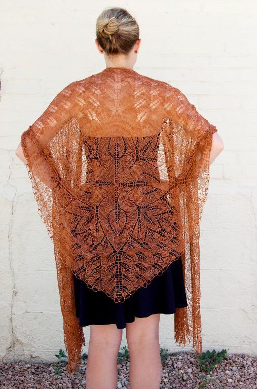 Fiori lace shawl