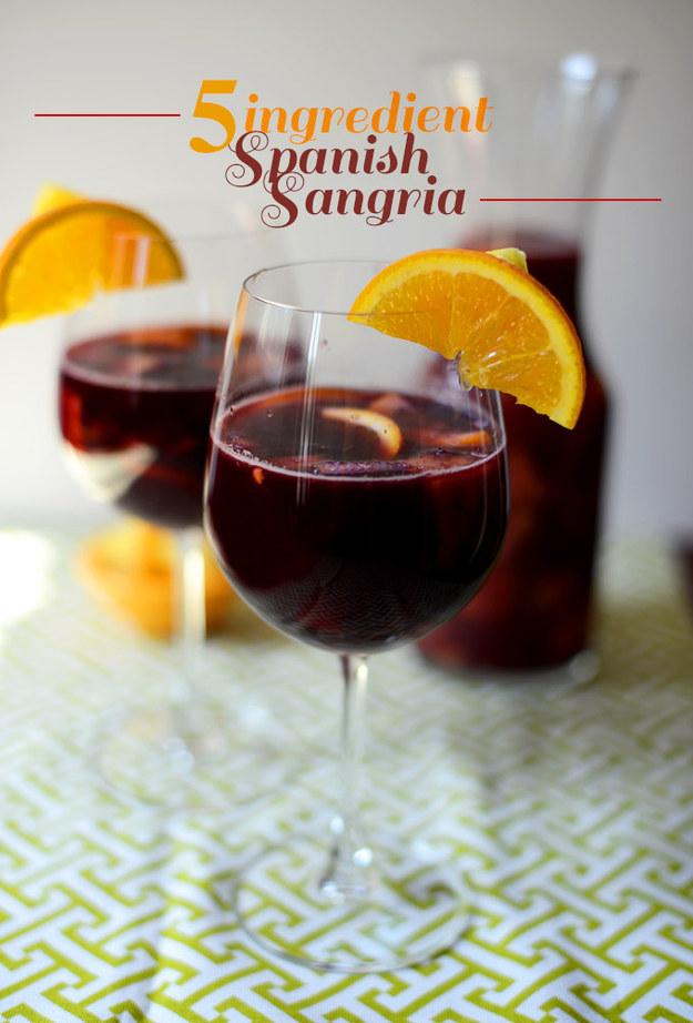 Five ingredient Spanish sangria