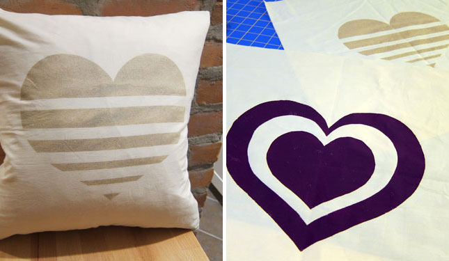 Freezer paper printed pillow cases
