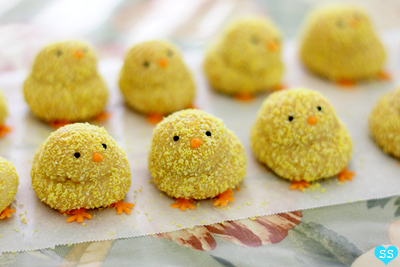 Fun lemon chick cookies