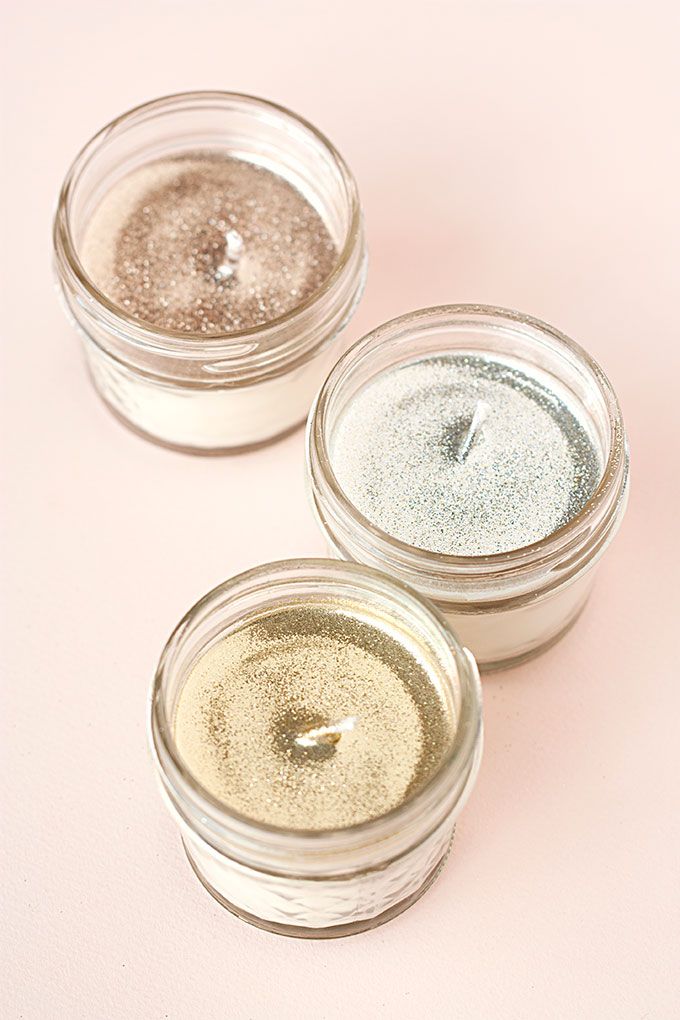 Glitter Soy Candles