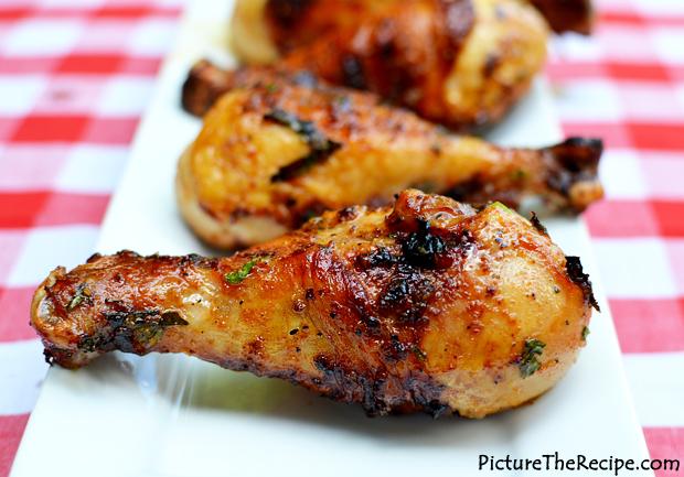 Grilled beer marinated chicken