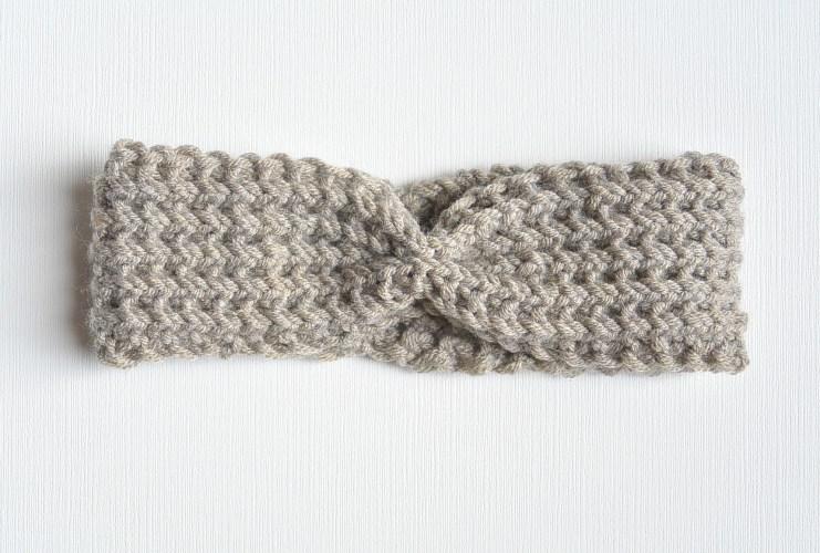 Half fisherman knit headband