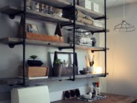 Industrial Office Shelves 200x150 Industrial Shelves and Racks to Make for Your Home