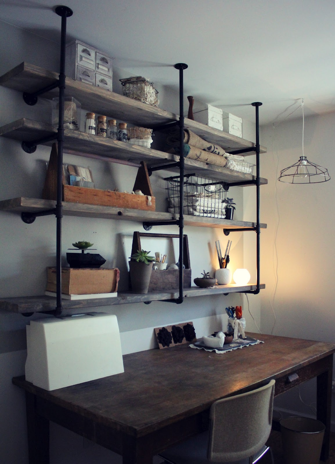 Industrial Office Shelves