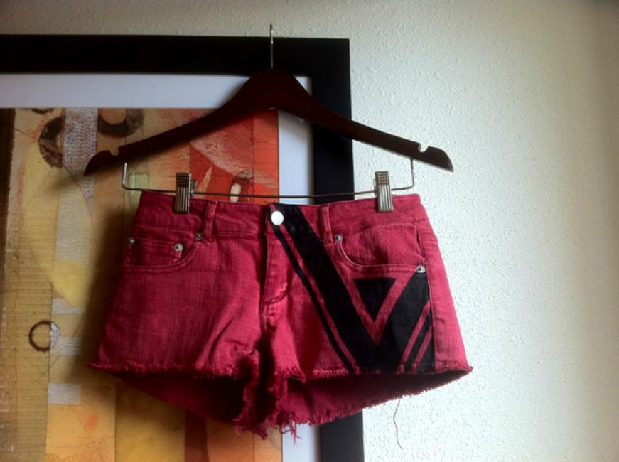 Inked Denim Shorts