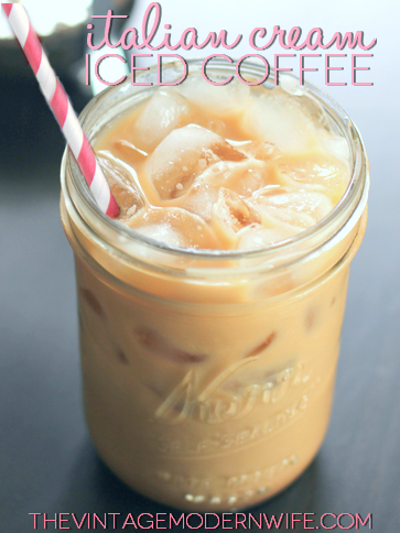 Italian cream iced coffee