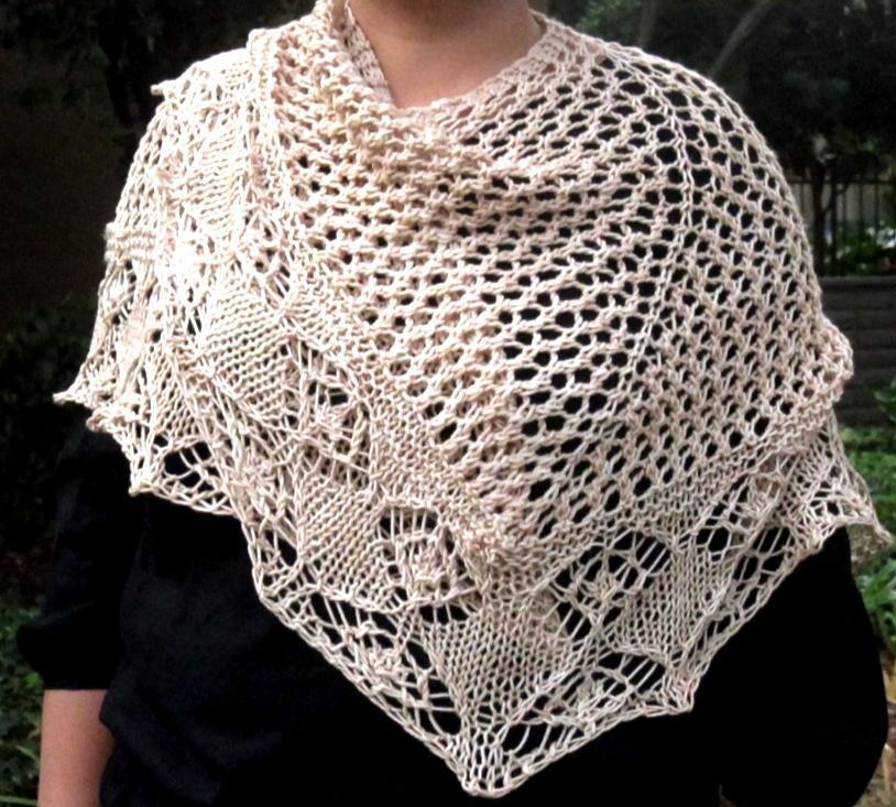Jaali knitted shawl