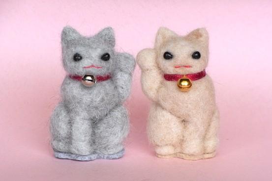 Japanese cat hair figurines