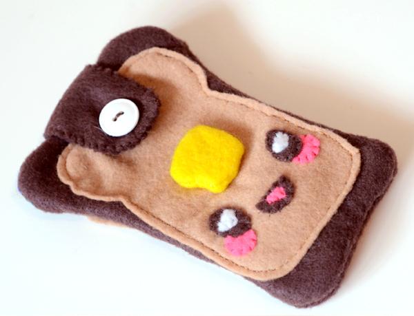 Kawaii toast phone cozy