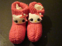 Kitten Kids Slippers 200x150 Keep Your Children's Feet Warm with These Knitted Slipper Ideas