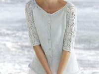 Knit Cardigan with Lace Sleeves 200x150 These Knitted Cardigans Are the Perfect Way to Update Your Wardrobe