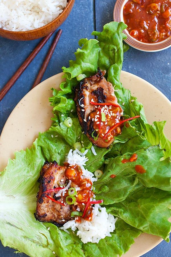 Korean BBQ chicken